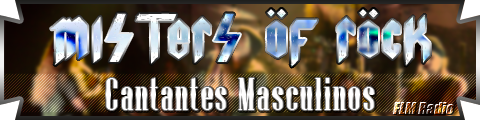 Misters of Rock: 02 Cantantes Masculinos - FLM Radio - banner