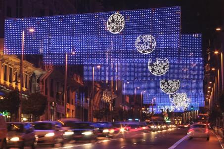 Iluminación navideña en Gran Vía