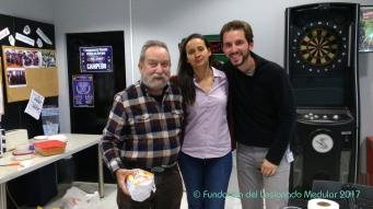 M. Ángel Suja, 2º premio. Con Dra. Natacha León y Joaquín
