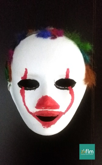 mascara carnaval, fundacion lesionado medular, payaso