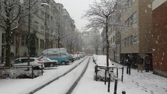 nieve ciudad